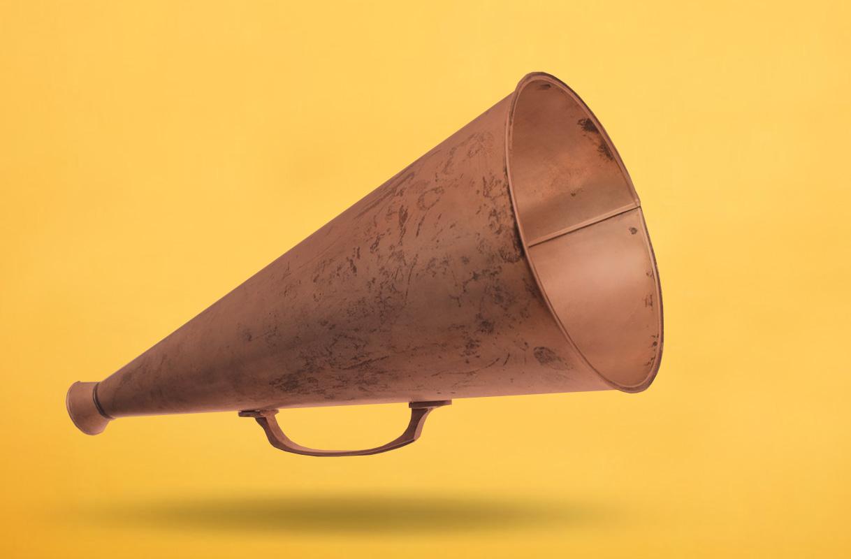 megafono-antiguo
